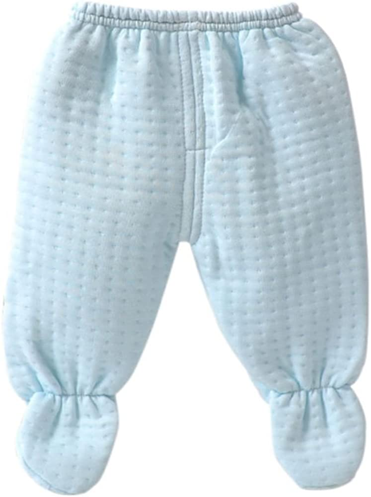 BOBORA 5PCs B/éb/é Chemise en Coton Pantalon Bibs Ensemble Pyjamas pour 0-3M Chapeau