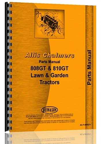 Allis Chalmers 808 810 811 GT Lawn Tractor Parts Manual