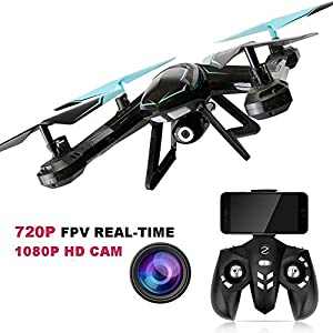 Fitiger Remote RC Drone FPV 2.4GHz 6-Axis Gyro Remote Control Drone With Wifi HD 2MP Camera Video Live Drone for Kids and Adults( Exclusive H Styling Design) from Fitiger