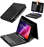 Navitech Leather Case / Cover Fits With & Without Docking Keyboard With Adjustable Stand For The Asus Transformer Pad TF103