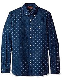 Jack Spade mens Long Sleeve Diamond Quad Print Shirt