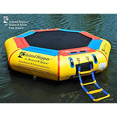 Island Hopper 10' Bounce N Splash Padded Water Bouncer: Sports & Outdoors