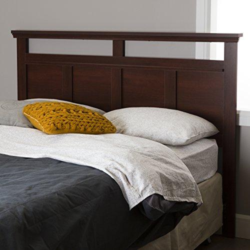 South Shore Versa Headboard, Full/Queen 54/60-Inch, Royal Cherry Brown Cherry Veneer Queen Bed