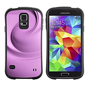 Suave TPU GEL Carcasa Funda Silicona Blando Estuche Caso de protección (para) Samsung Galaxy S5 / CECELL Phone case / / Floral Silk Purple Fabric Clean Bright /