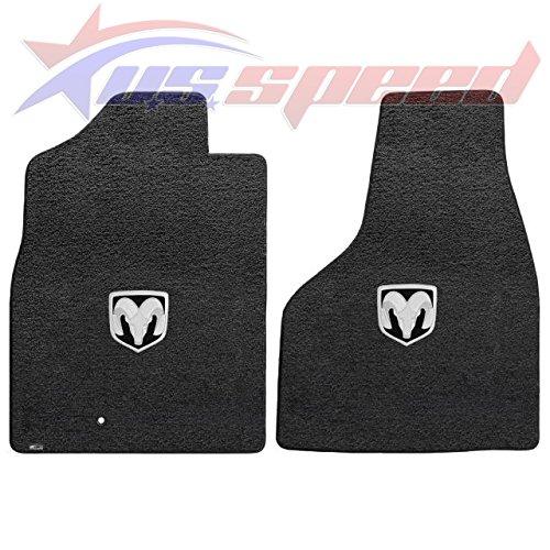 Fits 2013-2016 Dodge Ram 1500 Crew Cab Dark Slate Velourtex Floor Mats - Horns Logo