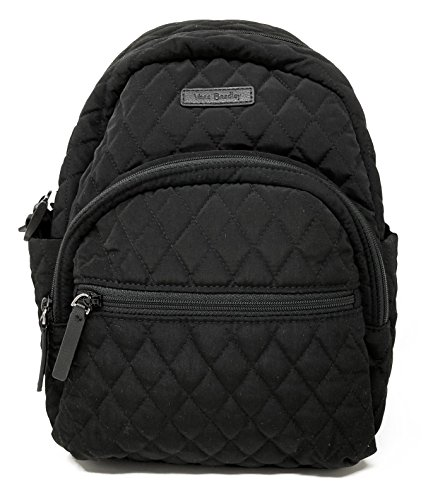 Vera Bradley Leigh Small Quilted Backpack (Classic Black)
