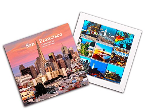 DA CHOCOLATE Candy Souvenir SAN-FRANCISCO Chocolate Gift Set HOTELS WHOLESALE edition 5x5in 1 box (Bridge)