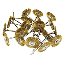 Yasumai mini Brass Steel Wire Brush Polishing Buffing Wheels Full kit for Dremel Die Grinder Rotary Tools