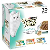 #1: Purina Fancy Feast Classic Seafood Feast Collection Cat Food 30-3 oz. Cans