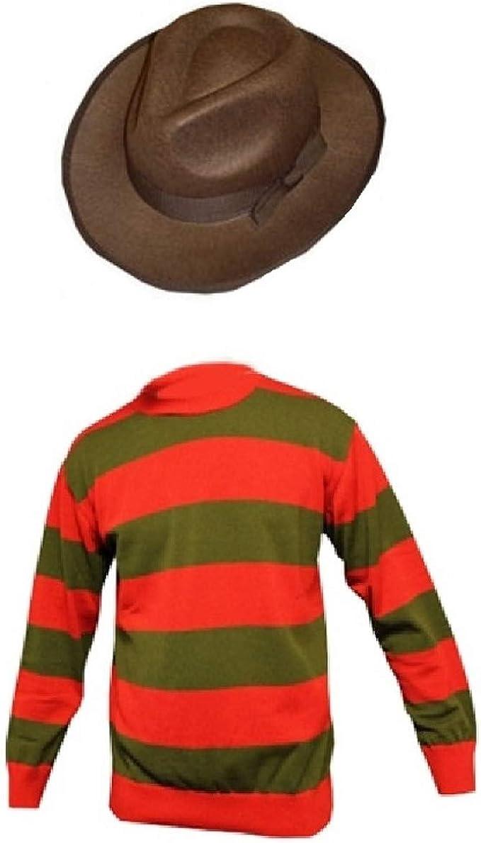 Disfraz unisex de Freddy Krueger para Halloween, guantes, sombrero ...