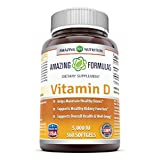 Amazing Formulas Vitamin D3 cholecalciferol – 5000 Iu, 360 Softgels – Supports calcium absorption — Essential for bone health — Supports healthy immune function