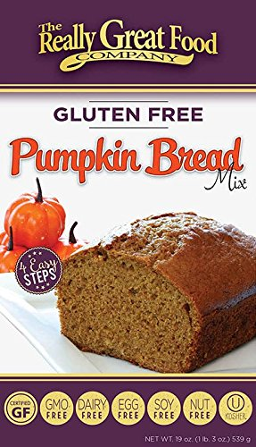 Really Great Food Company – Gluten Free Pumpkin Bread Mix – Large 19 ounce box - No Nuts, Soy, Dairy, Eggs - Vegan, Kosher, Non-GMO and Plant Based ()