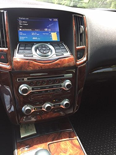 NISSAN MAXIMA INTERIOR BURL WOOD DASH TRIM KIT SET 2012 2013 2014 2015