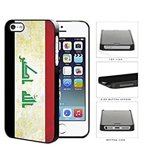 Iraq Flag Black White and Red with Script in Center Grunge Hard Snap on Phone Case Cover iPhone i5 5s