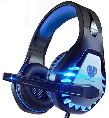 Pacrate PC Gaming Headset with Microphone for Xbox One, Computer, Mac, Laptop, PS4 Headset with Noise Cancelling Mic, Deep Bass Stereo Gaming Headphones with Super Soft Memory Earmuffs for Kids Adults
