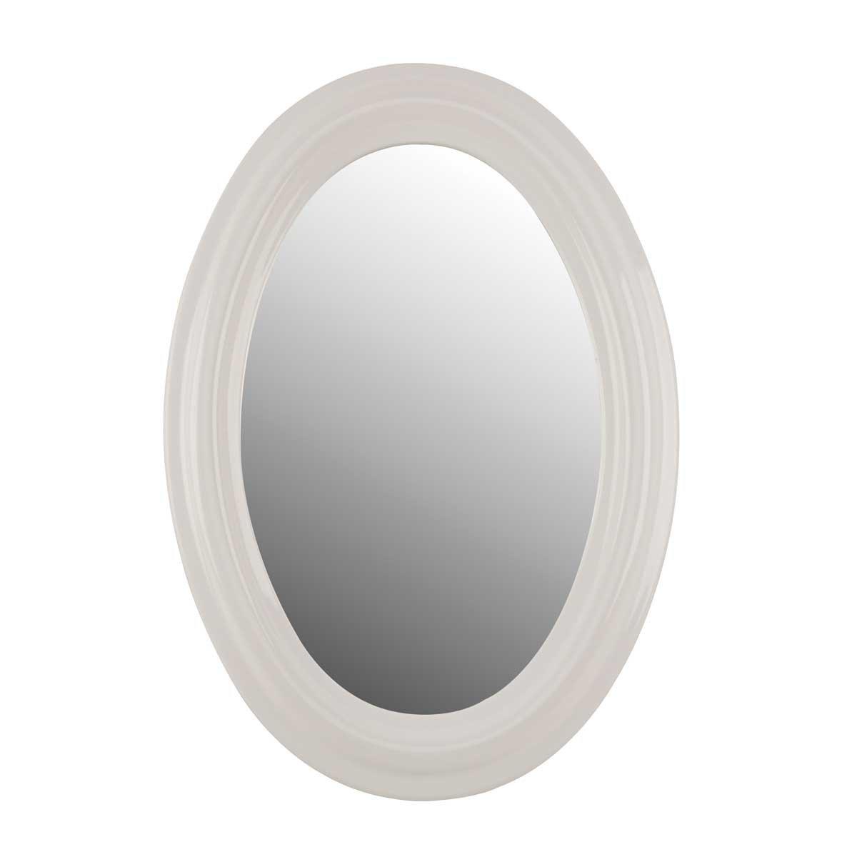 Mirrors White Porcelain Oval Bathroom Mirror: Amazon.co.uk: Kitchen ...