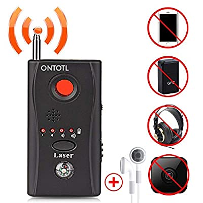 Anti-spy Camera Bug RF Detector,ONTOTL Wireless Bug Detector Hidden Camera Lens Detector Radio Wave Signal Detect Full-range GSM Device Finder,Camera Detector for Anti Eavesdropping/Candid/GPS Tracker by ONTOTL