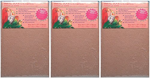 "51bfXW%2BPOKL - (3 Pack) Penn Plax Gravel Paper for Bird Cage, 9.5"" X 15"" (7 Sheets Per Pack / 21 Sheets Total)"