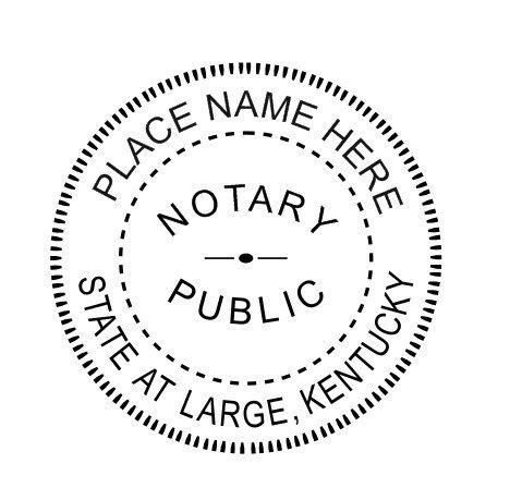 Notary -KENTUCKY State Notary Embosser - Notary Embosser- Embosser-Notary Seal-Official Seal ()