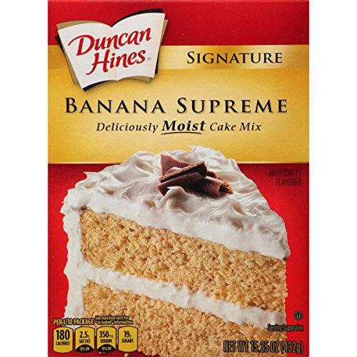 (Duncan Hines Signature Cake Mix, Banana Supreme, 15.25 Ounce)