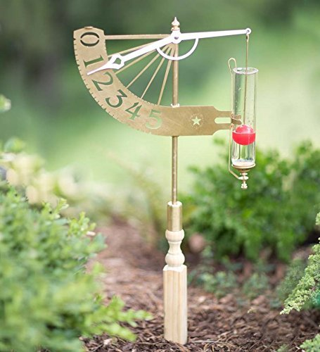 Solid Brass Jeffersonian Rain Gauge