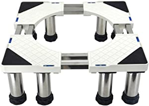 ZXWCYJ Home Heavy-Duty Adjustable Appliance Base, for Adjustable Dryer, Washing Machine and Mini Refrigerator, (Stainless-Steel)-8 Foot