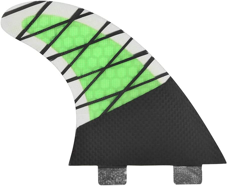 lahomie Set of 3 Surfboard Fins Honeycomb Propelled Single Head FCS for Surfboard Size G5