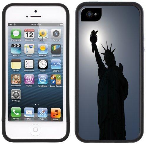 Freiheitsstatue | Handgefertigt | iPhone 5 5s | Schwarze Hülle