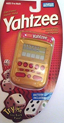 Parker YAHTZEE Electronic Handheld Game RED/GOLD EDITION ...
