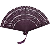 Chinoiserie Classical Bamboo Fan Hand Fan Beautiful Folding Fan Handheld Fan #10