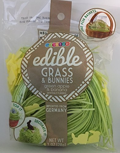Edible Grass (Edible Easter Grass & Bunnies ~ 1 oz (Green Apple & Banana))