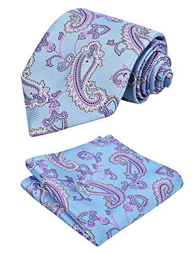 Floral Fazzoletto Blue Pouch Alizeal Light Suite Tie Man qvPSOtTX