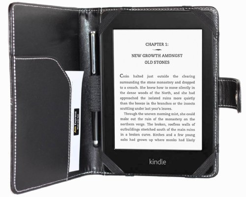amCase(TM) high quality leather case and cover for Newest Kindle, Kindle Paperwhite and Kindle Paperwhite 3G. by amCase