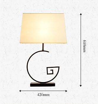 SZ&LAM lámpara de sobremesa China Dormitorio de Noche Retro ...