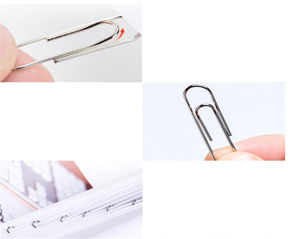 Hacoly 80 Pcs Paper Clips Binder Clips Bookmarks Photo File Document Clamps Office Supplies School Stationery Birthday Gift Christmas Gifts