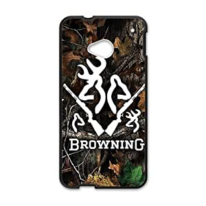 Browning Pattern Plastic Case For HTC M7 by runtopwell