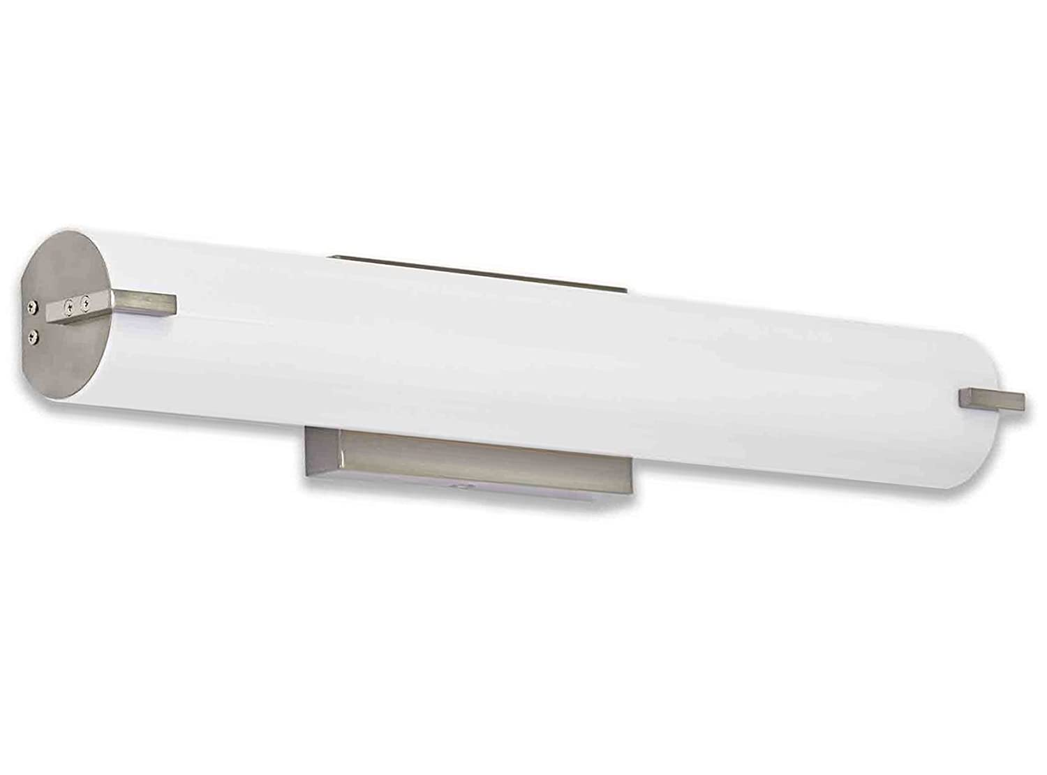 NEW Modern Frosted Bathroom Vanity Light Fixture | Contemporary Sleek  Dimmable LED Cylinder Bar Design | Vertical Or Horizontal Tube With Brushed  Nickel ...