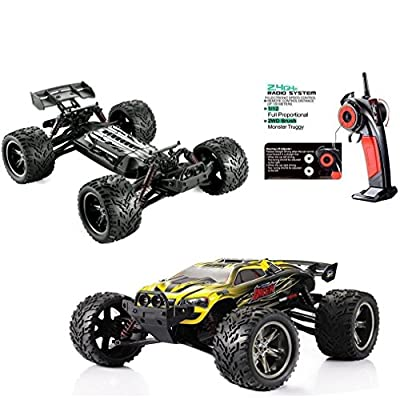 Red-kid 1/12 Scale 2.4Ghz Remote Control 2WD Off road Drift Truck 33+MP/h yellow