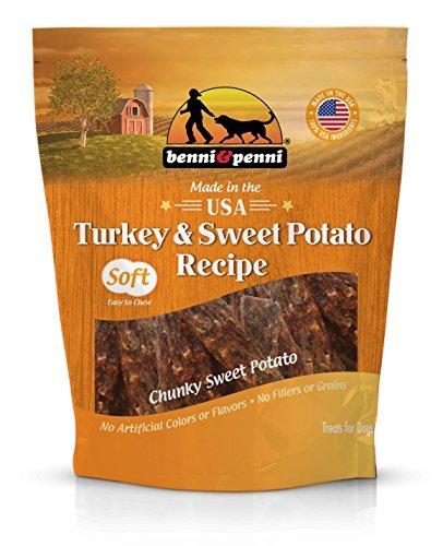 Benni & Penni USA Raised Turkey and Sweet Potato Soft Chew Jerky 6 oz. by Benni and Penni (Image #1)