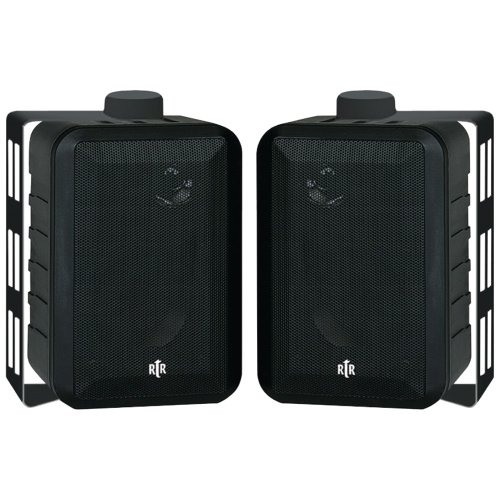 BIC AMERICA RTRV44-2 RtR Series 3-Way Indoor/Outdoor Speakers (Black) by Generic