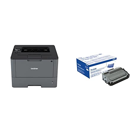 Brother HL-L5200DW - Impresora láser profesional monocromo (250 hojas, 40 ppm, USB 2.0, doble cara automática, Ethernet, Wifi) + Brother TN3430 - ...