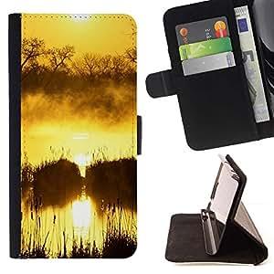 For Samsung Galaxy J1 J100 Case , Sunset Beautiful Nature 100- la tarjeta de Crédito Slots PU Funda de cuero Monedero caso cubierta de piel