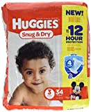Health & Personal Care : Huggies Snug & Dry Diapers - Size 3 - 34 Count