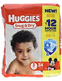 Huggies Snug & Dry Diapers - Size 3 - 34 Count BOBEBE Online Baby Store From New York to Miami and Los Angeles