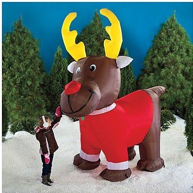 Oversized 10 Ft. Inflatable Reindeer ~ LED Lighted U0026 Moving