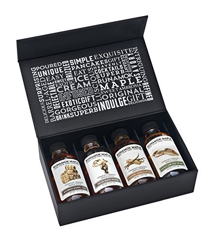 Runamok Maple Gift Box of 4 - 60ml Bottles of Barrel-Aged + Infused Maple Syrups