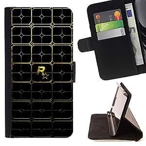 Momo Phone Case / Flip Funda de Cuero Case Cover - R0Ckstare Games - Gold Pattern - Sony Xperia Z2 D6502