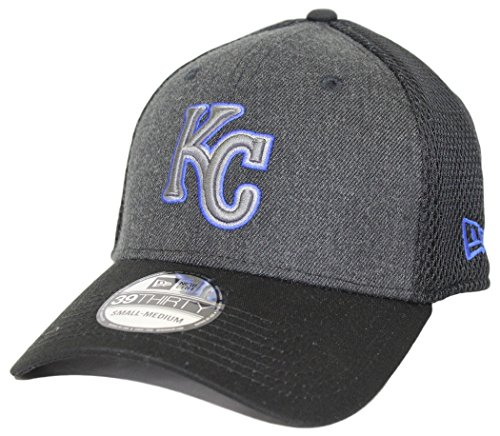 (Kansas City Royals New Era Heathered Neo 39Thirty Flex Fit Hat/Cap Small/Medium)