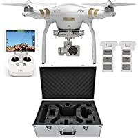 DJI Phantom 3 Professional Quadcopter Aircraft, 3-Axis Gimbal & 4K UHD Video Camera, Remote Controller Included - Bundle With Extra Battery, DJI Aluminum Case