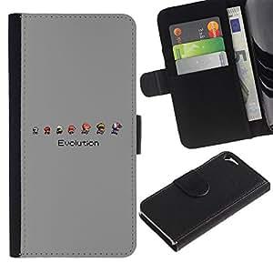 JackGot ( Mario Evolution ) Apple iPhone 5 / iPhone 5S la tarjeta de Crédito Slots PU Funda de cuero Monedero caso cubierta de piel